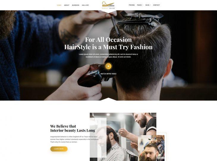 Mẫu website studio hớt tóc 08