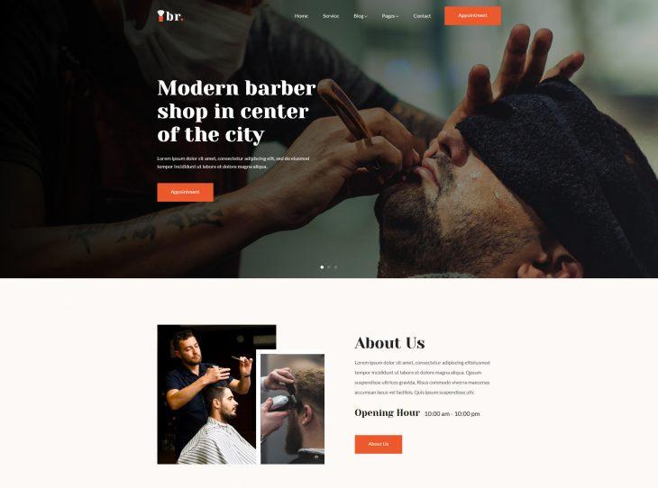 Mẫu website hớt tóc 02