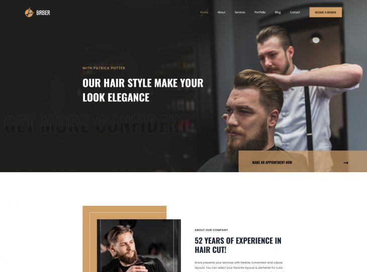 Mẫu website hớt tóc 01