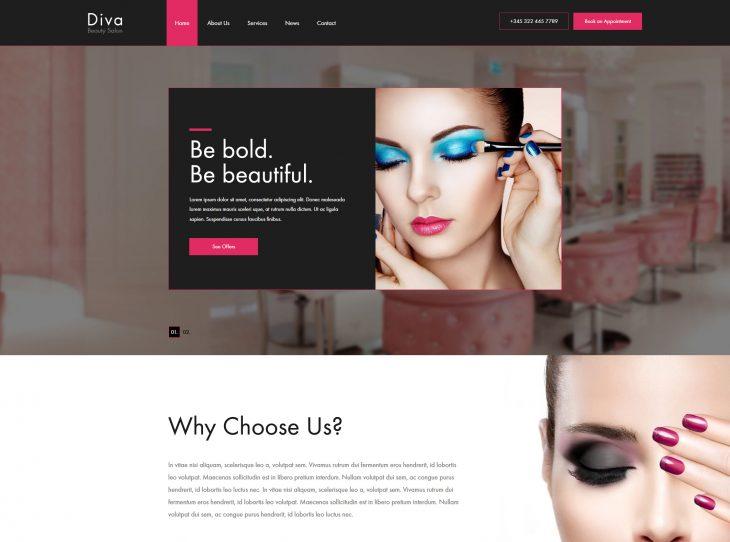 Mẫu website làm Nail – Makeup 01