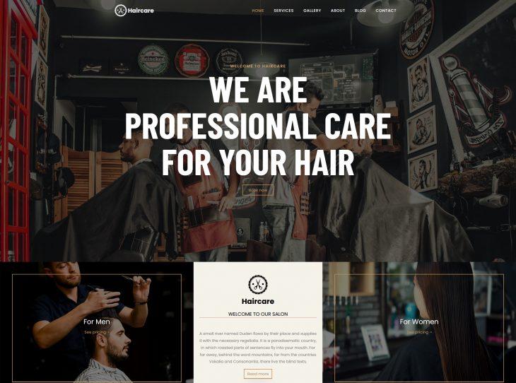 Mẫu website studio hớt tóc 04