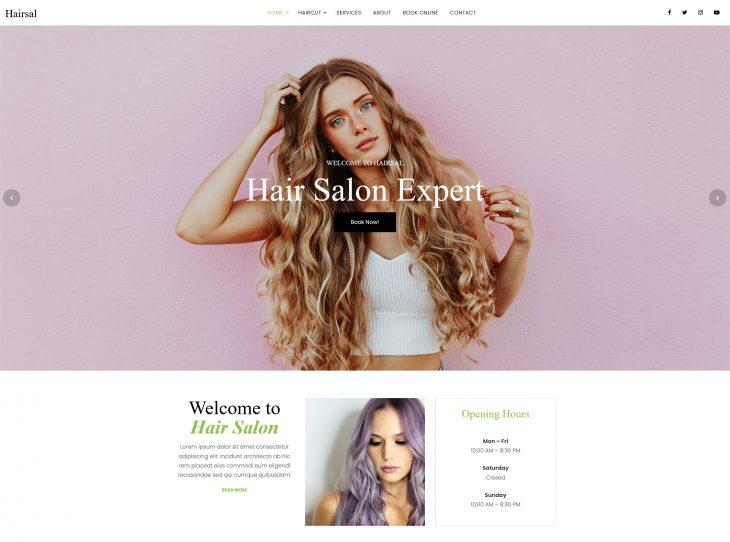 Mẫu website làm Nail – Makeup 02