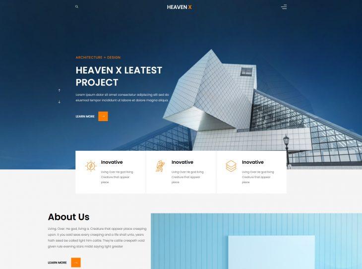 Mẫu website xây dựng 06