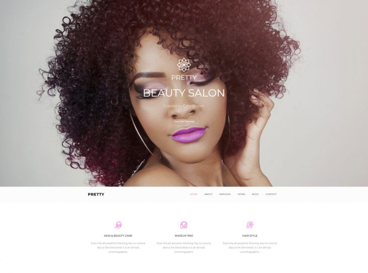 Mẫu website làm Nail – Makeup
