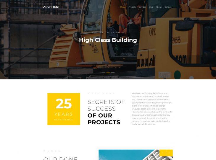 Mẫu website xây dựng 13