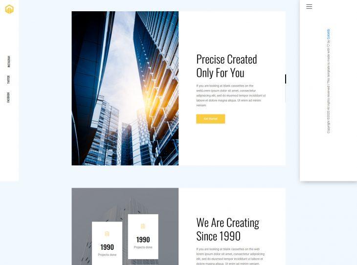 Mẫu website xây dựng 11