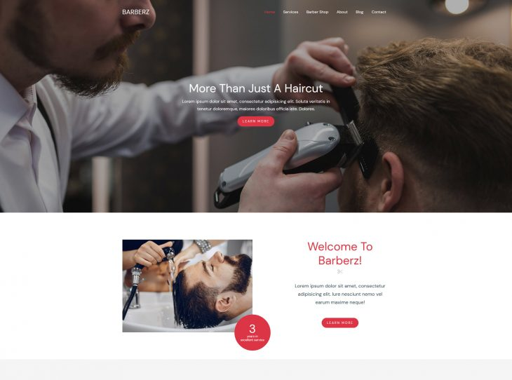 Mẫu website studio hớt tóc 05