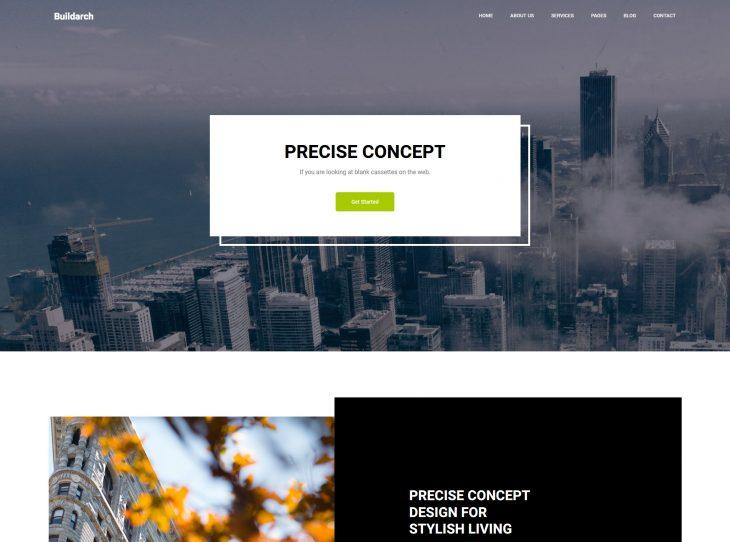 Mẫu website xây dựng 16
