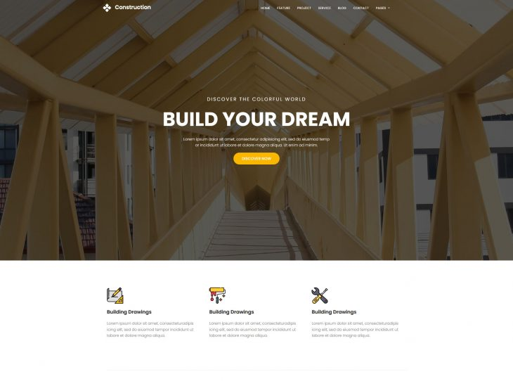 Mẫu website xây dựng 19