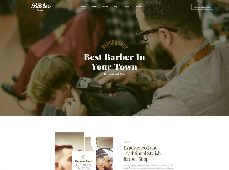 Mẫu website studio hớt tóc 03