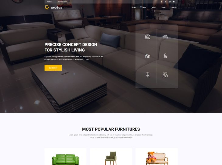 Mẫu website xây dựng 15