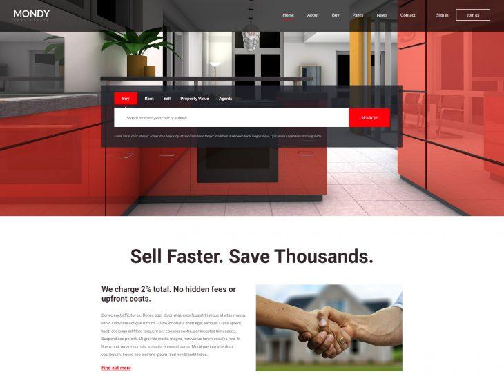 Mẫu web bất động sản 03
