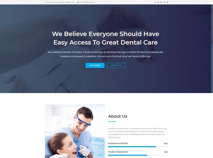 Mẫu web Y tế & Sức khỏe 01