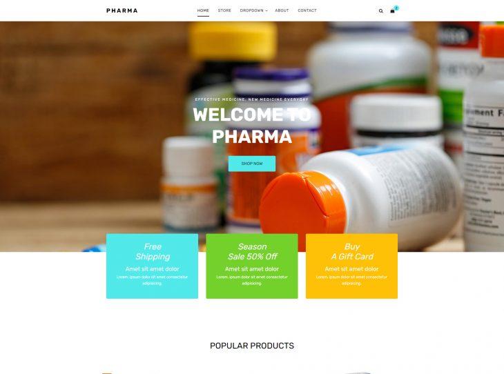 Mẫu web Y tế & Sức khỏe 07